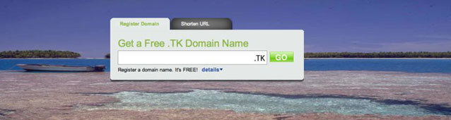 Dot.tk - get a free domain. Absolutely free