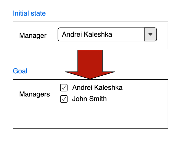 From single drop-down to multiple check-boxes